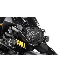Osłona reflektora ze stali nierdzewnej, czarna, mocowanie na szybkozłączkach, do światła LED BMW R1250GS/ R1250GS Adventure *OFFROAD USE ONLY*