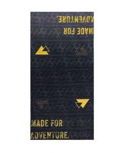 """Wielofunkcyjny komin """"Essential"""", czarny/żółty"""