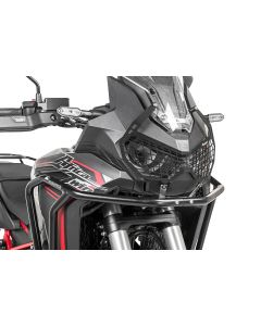 "Headlight protector black with quick release fastener for Honda CRF1100L Africa Twin ""OFFROAD USE ONLY"""