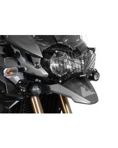 Osłona reflektora ze stali nierdzewnej, czarna, mocowanie na szybkozłączkach do Triumph Tiger 800/ 800XC/ 800XCx oraz Tiger Explorer *OFFROAD USE ONLY*