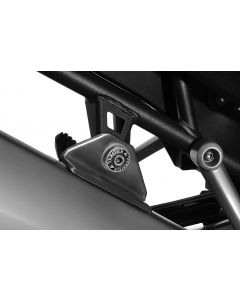 Cover for rear silencer mount, black anodised, for Triumph Tiger 800/ 800XC/ 800XCx/ Explorer